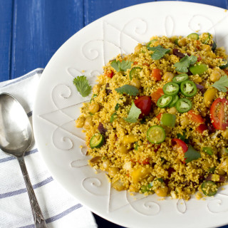 Moroccan Spiced Couscous with Vegetables and Chick Peas