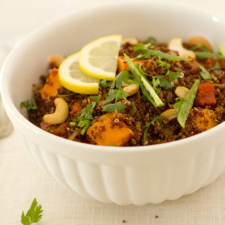 Spicy Sweet Potato Quinoa Bowl