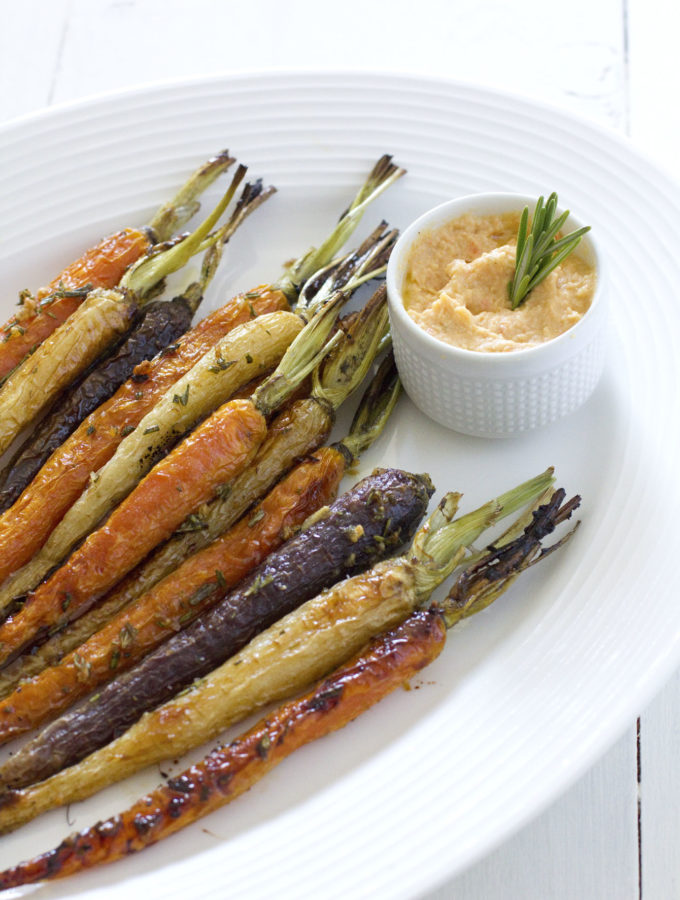 oven-roasted-maple-rosemary-glazed-carrots